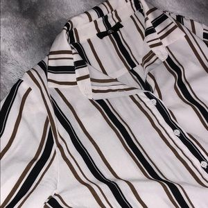 Missguided Stripe Button Up Dress Size 10